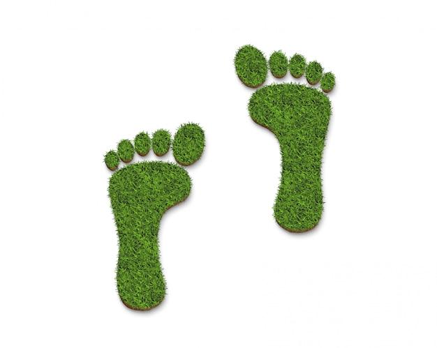 Ricicli il logo dell'icona da struttura dell'erba verde isolata su bianco