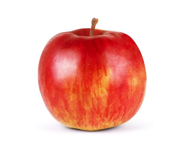 Mela rossa isolata su sfondo bianco