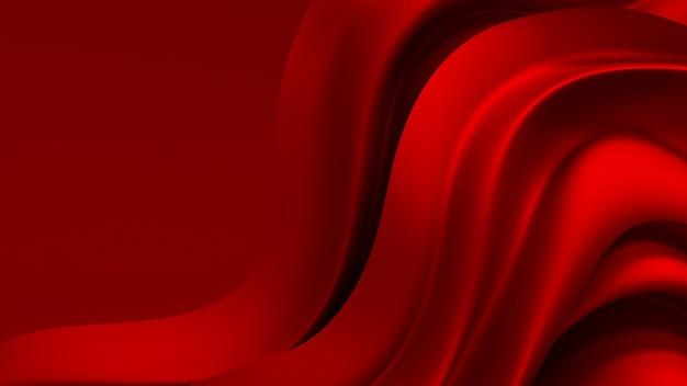 Sfondo rosso con tessuto drappeggiato. illustrazione 3d, rendering 3d.