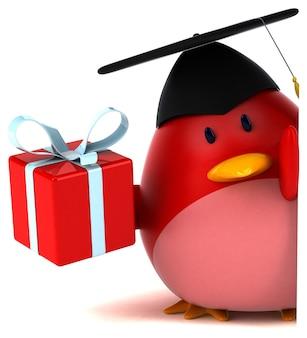 Uccello rosso - personaggio 3d