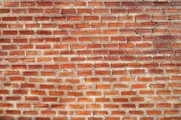Muro di mattoni del blocco rosso per lo sfondo