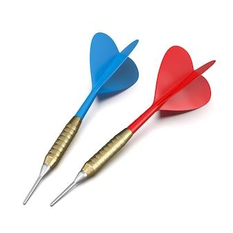 Freccette rosse e blu su sfondo bianco