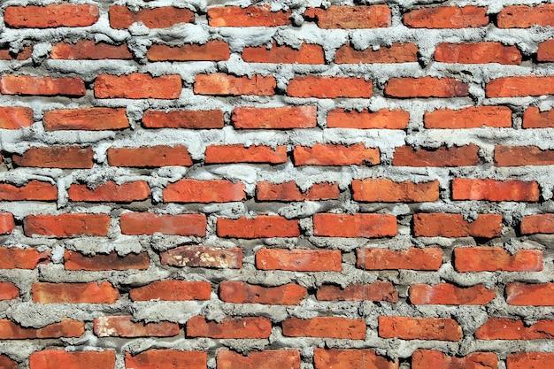 Struttura esterna del muro di mattoni rossi