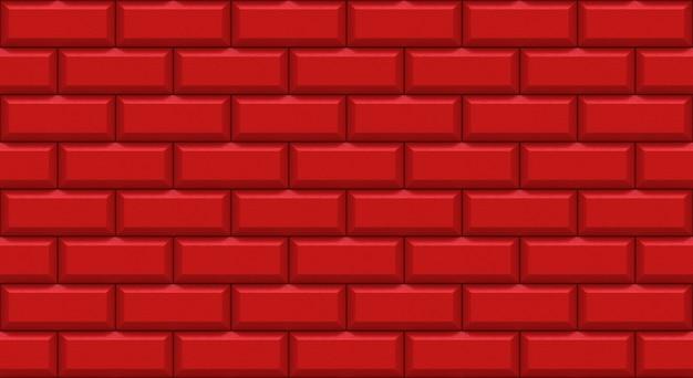 Rettangoli di muro di mattoni rossi con bordo smussato.