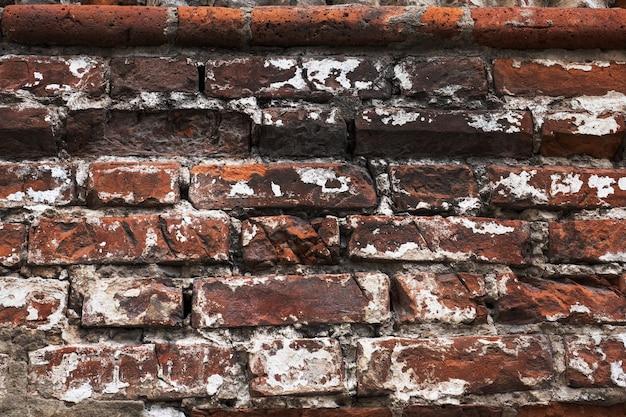 Rosso mattone parete texture di sfondo vecchio rustico.