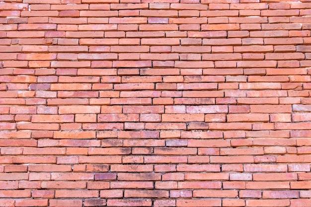 Muro di mattoni rossi
