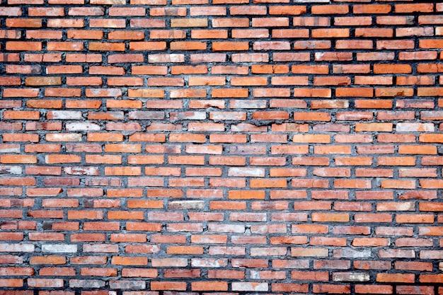Fondo rosso e marrone di lerciume di struttura del muro di mattoni. posto per il tuo design.