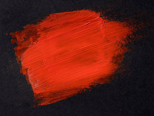 Concetto di colpo di pennello rosso