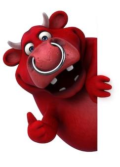 Toro rosso - illustrazione 3d