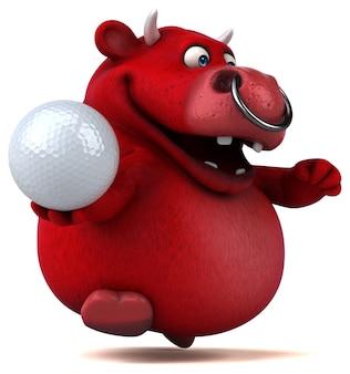 Illustrazione di toro rosso