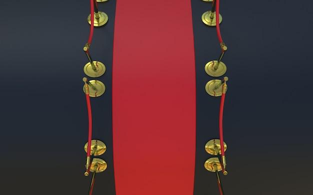 Tappeto rosso con colore nero sullo sfondo