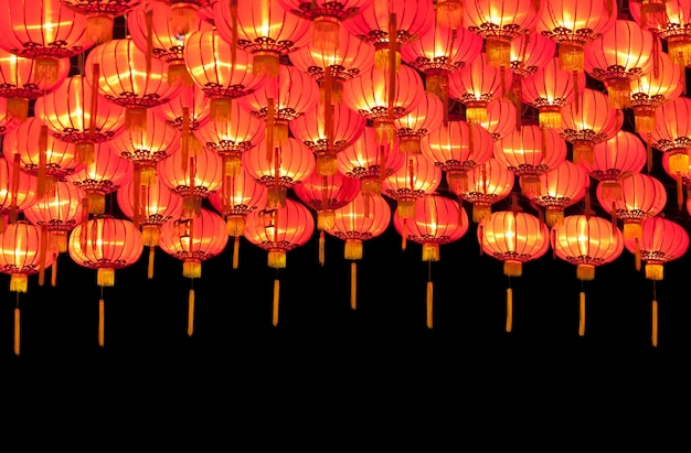 Lanterne cinesi rosse