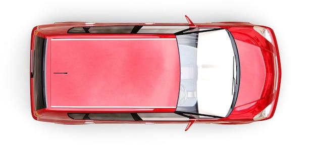 City car rossa con superficie vuota per il tuo design creativo