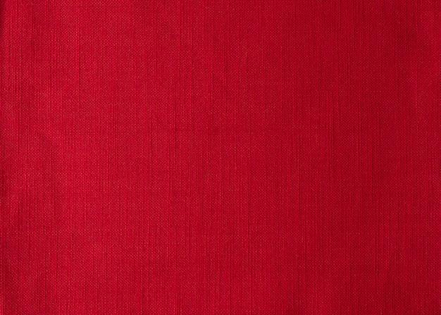 Vista superiore del fondo del tovagliolo di stoffa rossa