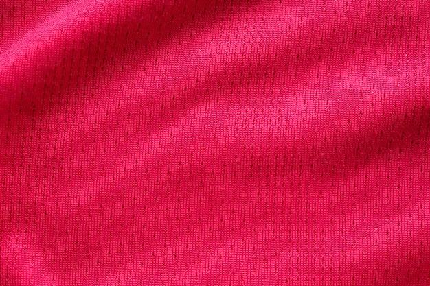 Maglia da calcio in tessuto sportivo abbigliamento rosso con sfondo trama a rete d'aria
