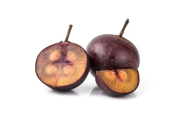 Frutti rossi di multingia calabura o ciliegia di manila