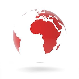 Globo rosso isolato su bianco