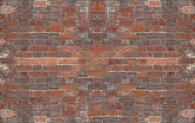 Struttura del fondo del muro di mattoni rossi del grunge