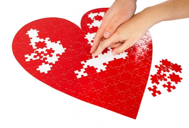 Puzzle cuore rosso