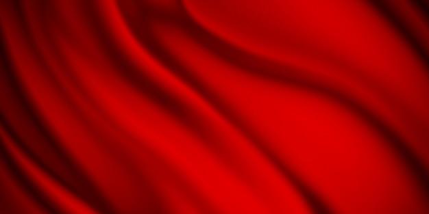 Fondo rosso del tessuto di lusso con lo spazio della copia