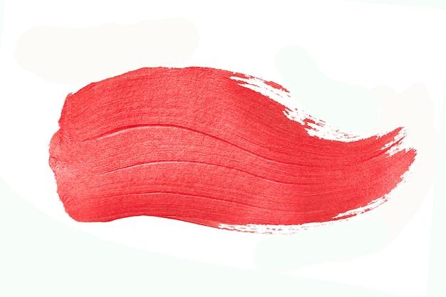 Pennellata di vernice rossa. illustrazione astratta di arte strutturata scintillante dell'oro.