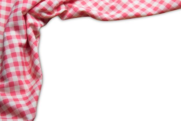 Plaid rosso su sfondo bianco