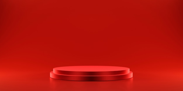 Piattaforma rossa per mostrare il prodotto