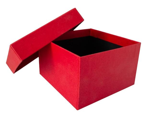 Regalo rosso o regalo isolato su sfondo bianco