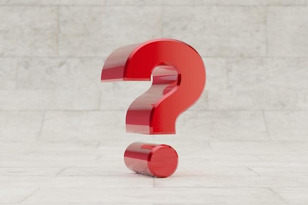 Simbolo del punto interrogativo rosso