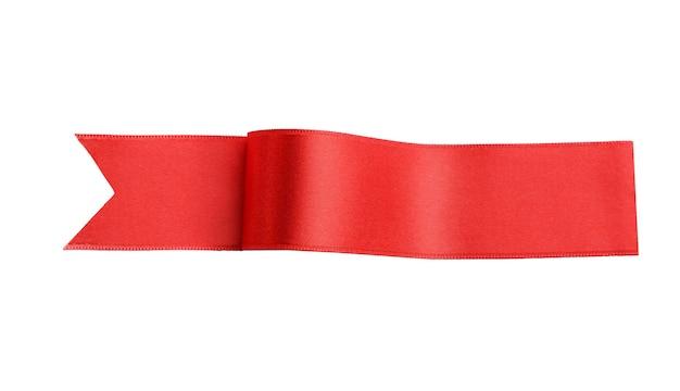 Nastro rosso isolato su bianco