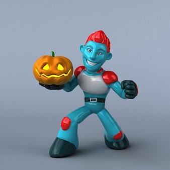 Illustrazione del robot rosso