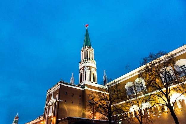 Piazza rossa, inverno. mosca, russia.