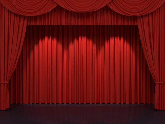 Tende rosse da palcoscenico