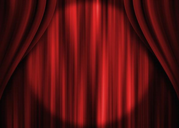 Faretto per tende da teatro rosso
