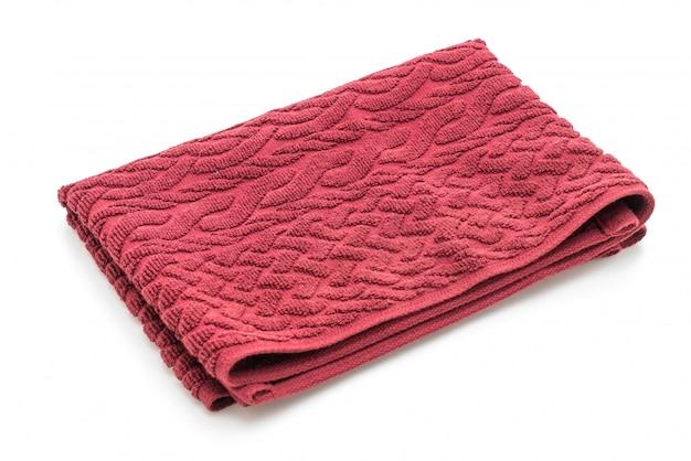 Asciugamano rosso su bianco