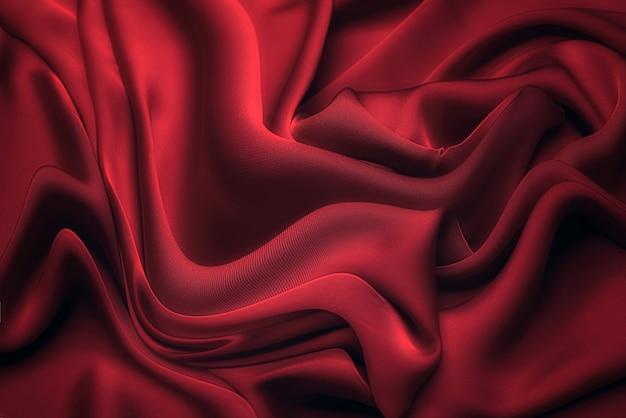 Tessuto in viscosa rosso. modello, sfondo.