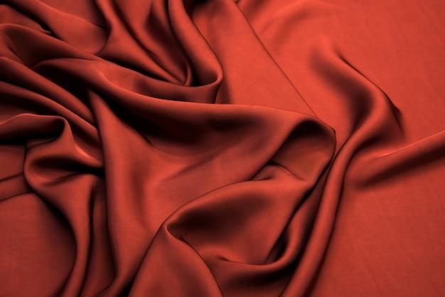 Trama di tessuto di viscosa rossa.