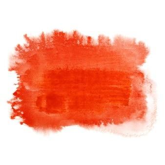 Pennellata di acquerello rosso. sfondo astratto. illustrazione raster