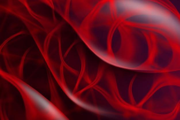 Fondo astratto strutturato ondulato rosso dalle linee curve con luce morbida. il layout può essere utilizzato per la tua creatività.