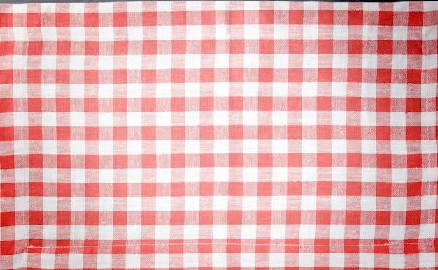 Sfondo vintage rosso e bianco, tovaglia per il design e con spazio per il testo per il menu