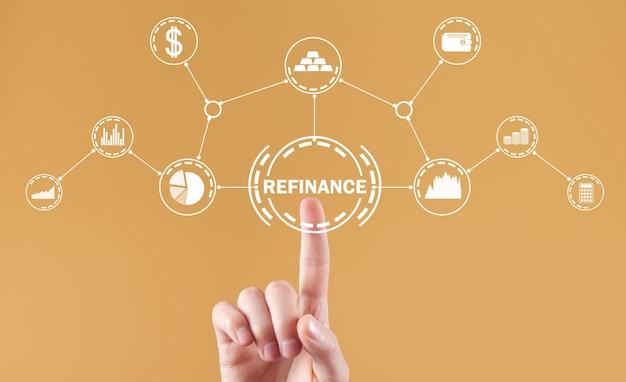 Rifinanziare il concetto. attività commerciale. finanza