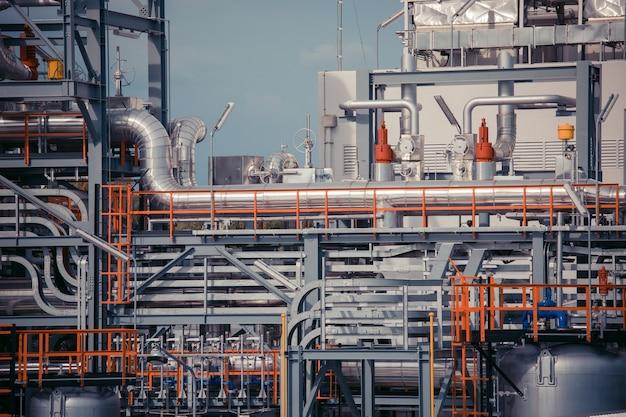 Raffineria industria tubo serbatoio produzione orizzontale petrolio e gasdotto.