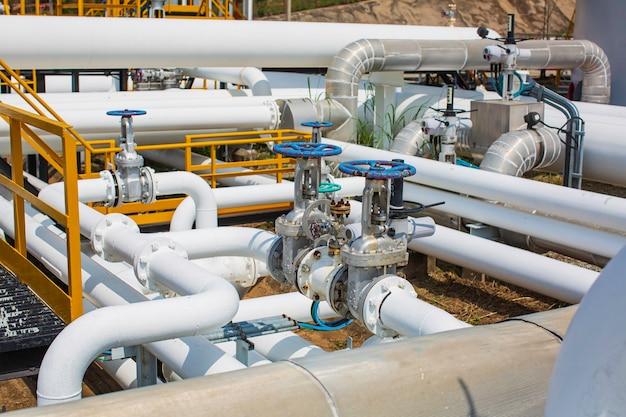 Attrezzatura dell'impianto di raffineria per le valvole dell'olio e del gas della linea di tubazioni presso la valvola di sicurezza della pressione dell'impianto di gas selettiva