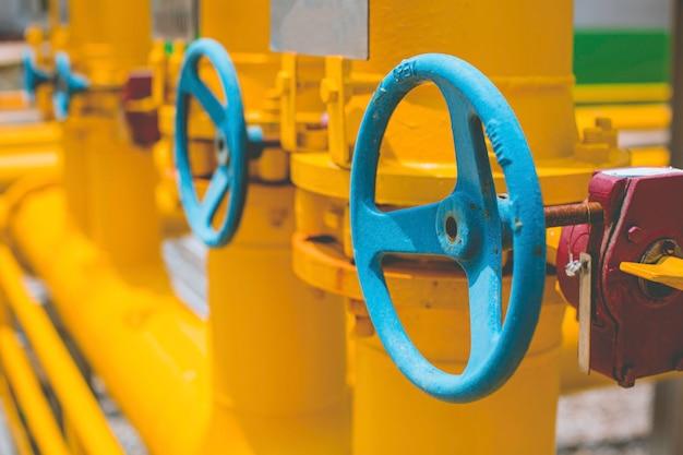 Attrezzatura dell'impianto di raffineria per tubi linea gialla olio e valvole del gas presso la valvola di sicurezza della pressione dell'impianto di gas selettiva