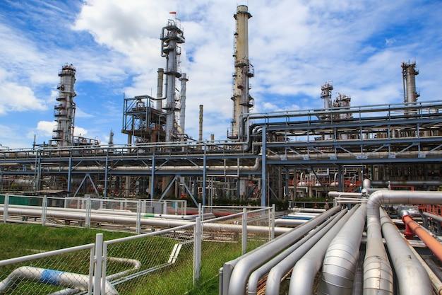 Impianto di raffineria thailandia petrolio e gas - 1 luglio 2016: raffineria di petrolio per la produzione di gasdotti e gasdotti