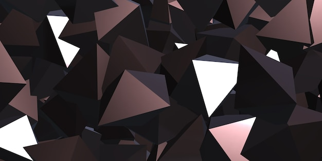 Cubo triangolare riflettente illustrazione astratta 3d della priorità bassa