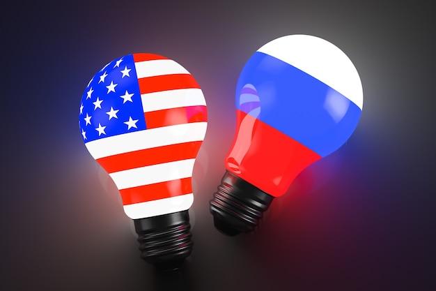 Relazioni tra russia e stati uniti. concetto geopolitico