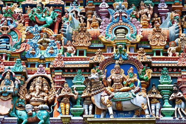 Rilievo del tempio di menakshi