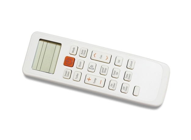 Telecomando su sfondo bianco