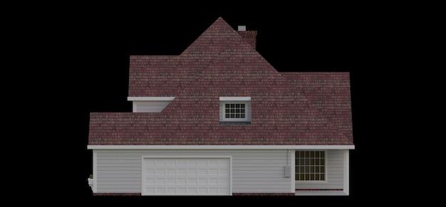 Rendering di una classica casa di campagna americana. illustrazione 3d.